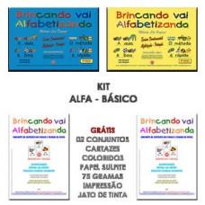 BRINCANDO VAI ALFABETIZANDO - KIT PROMOCIONAL ALFA BÁSICO - ALFABETIZAÇÃO - ENSINO FUNDAMENTAL 1